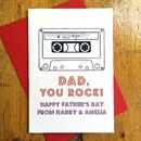 Personalised 'Dad You Rock!' Father's Day Card