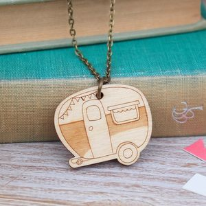 Wooden Caravan Necklace - women's jewellery