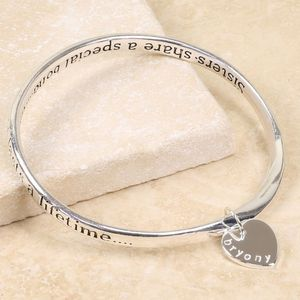 Personalised Special Sisters Bangle - bracelets & bangles