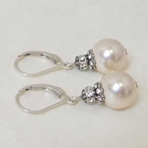Antique Silver Embellished Earrings