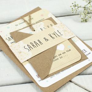 Map Bundle Wedding Invitation