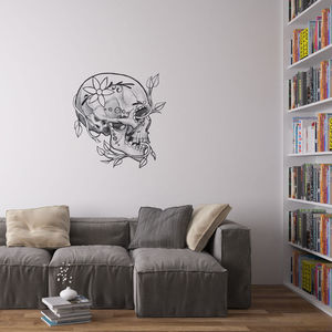 Day Of The Dead Skull Wall Art Sticker By Kitty Foster - wall stickers