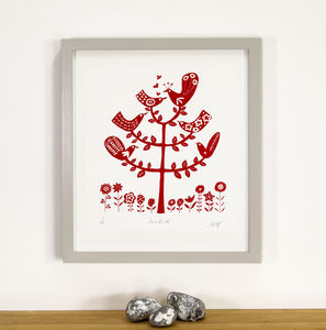 Love Birds Limited Edition Silkscreen Print