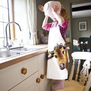 Inky Cow Child's Apron - children's cooking
