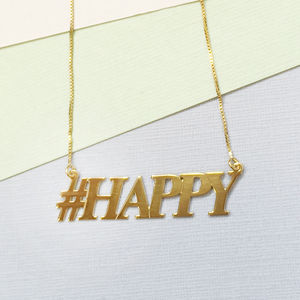Hashtag Happy Necklace