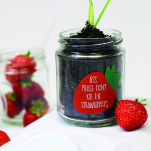 Personalised 'Don't Kill Me' Grow Strawberry Jars - house plants