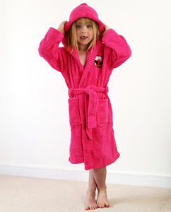 Personalised Girl's Hooded Bathrobe