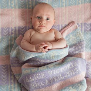 Personalised Cashmere Baby Blanket - gifts for babies