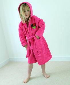 Personalised Girl's Hooded Dressing Gown - clothing