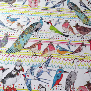 Recycled 'Birds' Wrapping Paper Three Sheets - wrapping paper