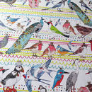 Recycled 'Birds' Wrapping Paper Three Sheets