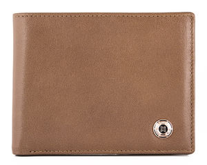 Nappa Leather Wallet In Camel - wallets & money clips