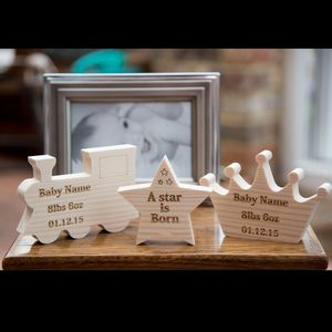 Personalised Baby Wooden Keepsake - home accessories