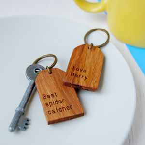 Personalised 'Best' Wooden Luggage Tag Keyring - keyrings