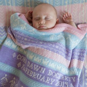 Personalised Baby Blanket In Merino Wool - personalised