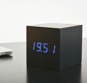 Maxi Cube Black Click Clock - clocks