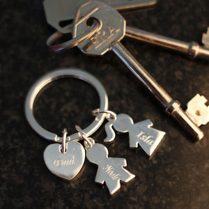 Personalised Children Keyring - keyrings