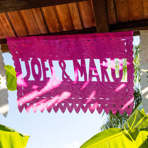 25 Personalised Strips Of Mexican Paper Bunting - room decorations