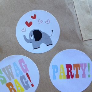 Elephant And Heart Stickers - party bags and ideas
