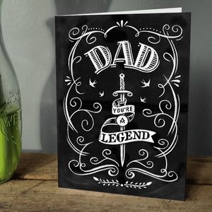 Dad You're A Legend Greetings Card - father's day cards