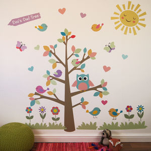 Owl Tree Wall Stickers - decorative accessories