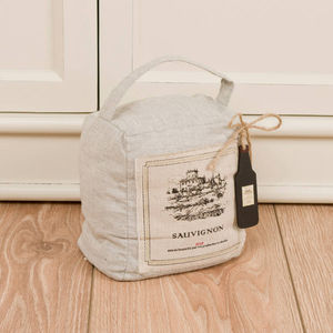 French Sauvignon Linen Door Stop