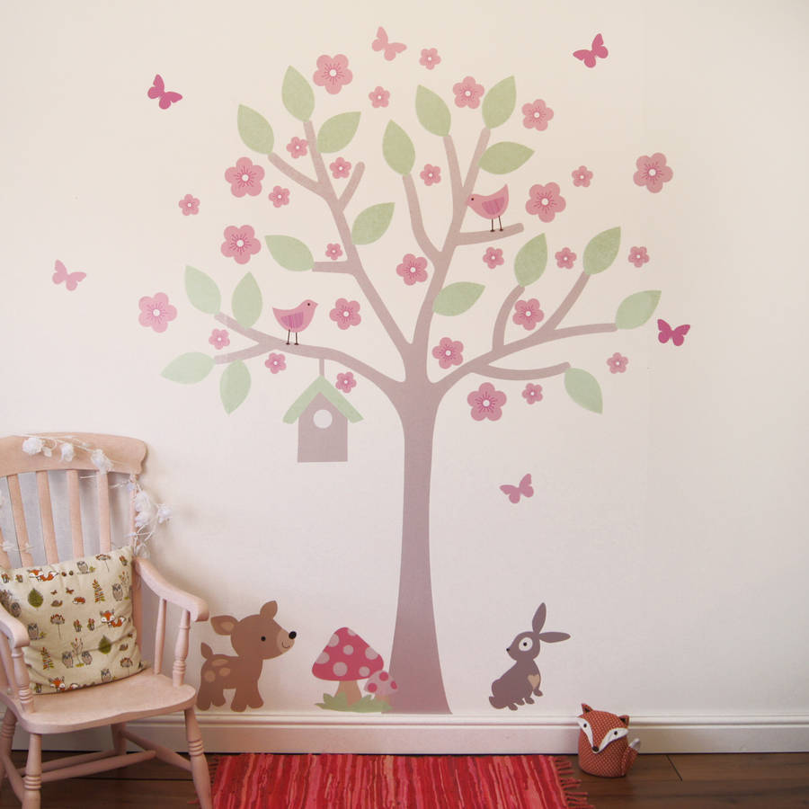 Cherry blossom tree wall stickers by parkins interiors cherry blossom tree wall stickers amipublicfo Image collections