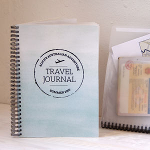 Personalised Travel Memory Book - writing