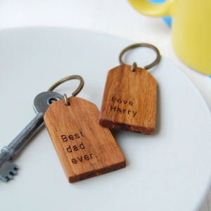 Personalised 'Best Dad Ever' Tag Keyring - gifts for fathers