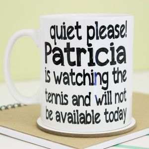 Personalised 'Quiet Please' Mug - mugs