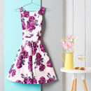1950s Vintage Style Rose Floral Tea Dress