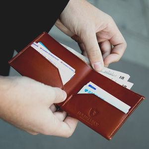 Slim Billfold Leather Wallet - men's accessories