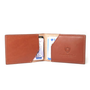 Personalised Slim Leather Card Holder Case - men's accessories