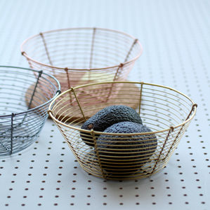 Brass Wire Fruit Bowl - fruit bowls