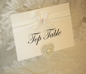 Lace, Rose And Pearl Wedding Table Names
