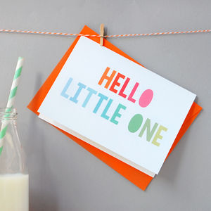Hello Little One Card - new baby & christening cards