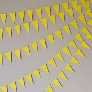 Pastel Yellow Mini Paper Bunting