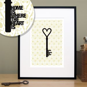 'Home Is Where The Heart Is' Housewarming Print - prints & art sale