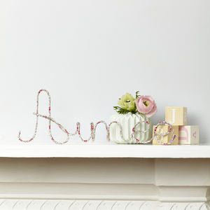 Eloise Fabric Wire Name Sign - door plaques & signs