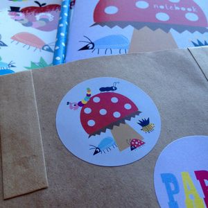 Bug And Toadstool Stickers