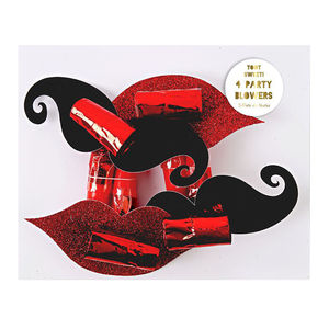 Moustache And Lip Party Blowers - pretend play & dressing up
