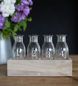 One To Four Flower Bottles