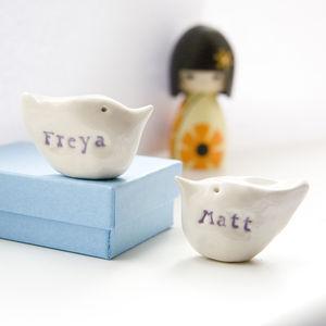 Personalised Wedding Gift Birds - ornaments