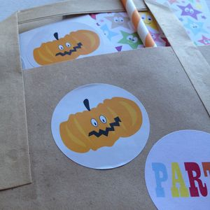 Halloween Pumpkin Stickers - diy & craft