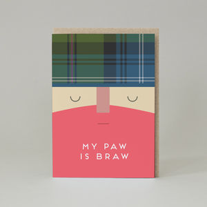 'My Paw Is Braw' Card - father's day cards