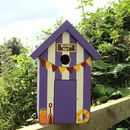 Beach Hut Bird Box - Palatine Purple