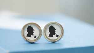 Sherlock Holmes On Cufflinks - bedroom