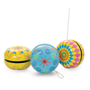 Colourful Retro Style Tin Yoyo - outdoor toys & games