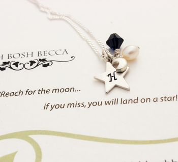 reach for the moon necklace graduation and exam jewellery gifts