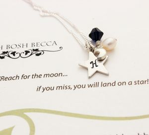 Reach For The Moon Charm Necklace - exam congratulations gifts